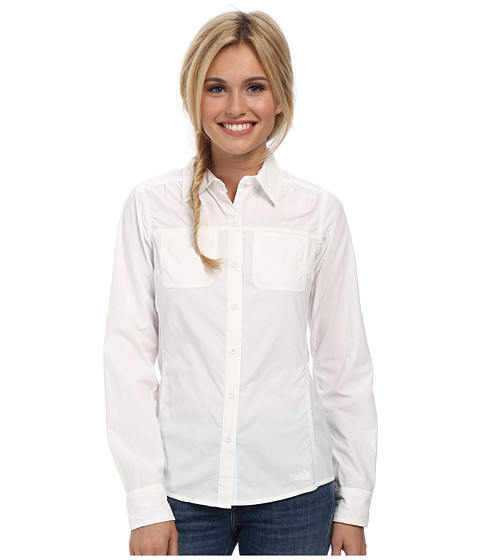 The North Face - Long Sleeve Cool Horizon Woven Shirt (TNF White) Women's Long Sleeve Button Up