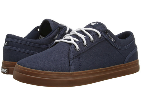 DVS Shoe Company - Aversa (Navy Waxed Canvas) Men's Skate Shoes