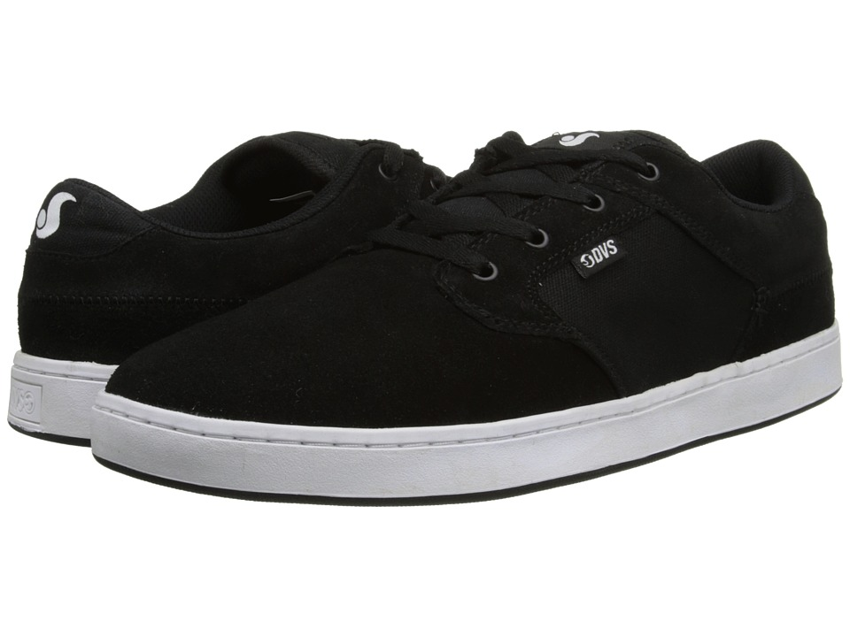 DVS Shoe Company - Quentin (Black/White Suede) Men's Skate Shoes
