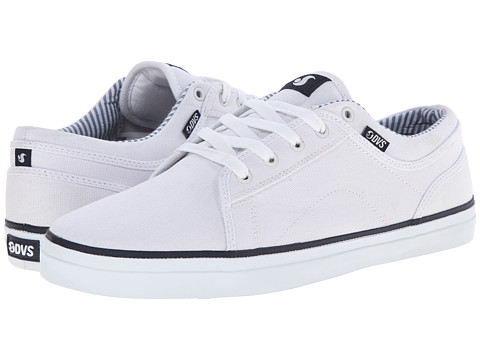 DVS Shoe Company - Aversa (White Canvas) Men's Skate Shoes