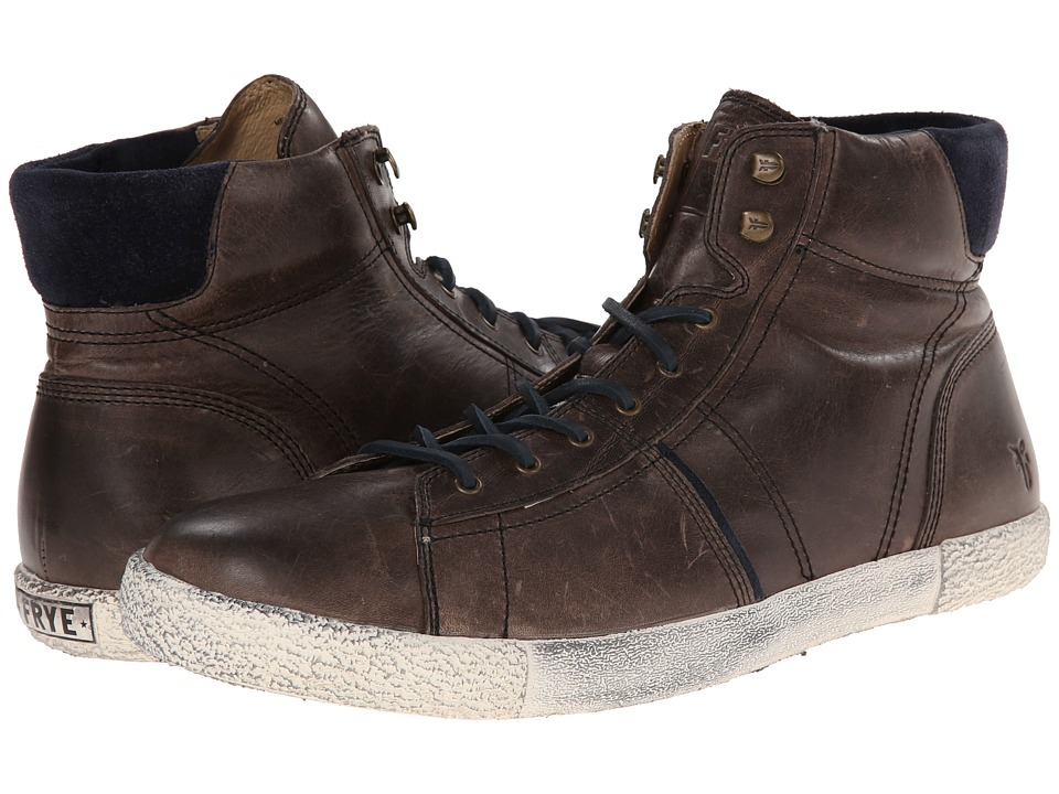 Frye - Bedford High (Charcoal) Men's Lace up casual Shoes