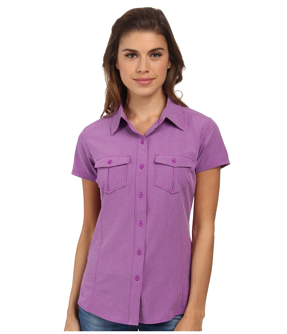 The North Face - Short Sleeve Taggart Woven Shirt (Magic Magenta Heather) Women's Short Sleeve Button Up