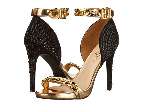 Fergie - Razor (Black/Gold) High Heels