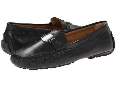 LAUREN by Ralph Lauren - Carley (Black Nappa Leather) Women's Slip on Shoes