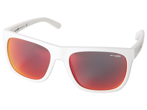 Arnette - Fire Drill (Fuzzy White/Red Mirror) Sport Sunglasses