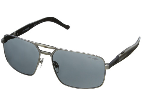 Arnette - Smokey (Satin Silver/Grey Horn/Grey) Fashion Sunglasses