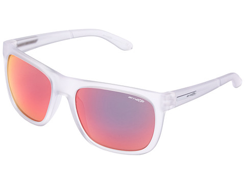 Arnette - Fire Drill (Fuzzy Matte Clear/Red Mirror) Sport Sunglasses