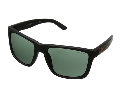 Arnette - Witch Doctor (Fuzzy Black Matte/Grey/Green) Sport Sunglasses