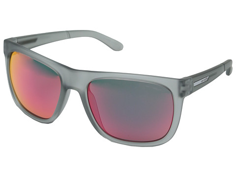 Arnette - Fire Drill (Fuzzy Trans Clear/Red Mirror) Sport Sunglasses