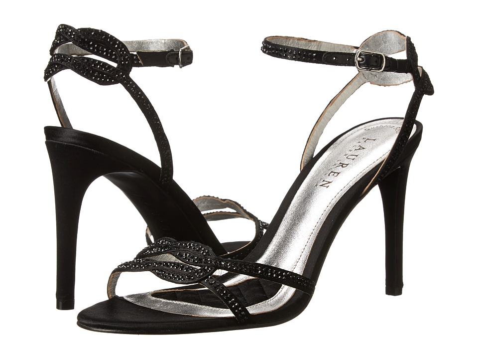 LAUREN Ralph Lauren - Stephanie (Black Satin/Stones) High Heels
