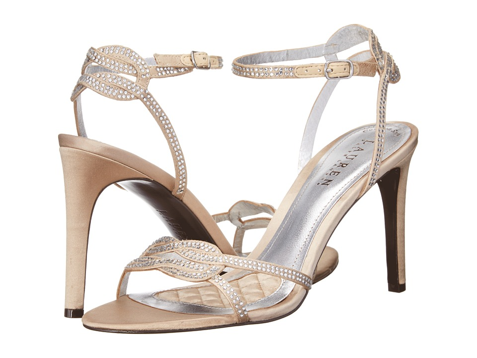 LAUREN Ralph Lauren Stephanie (Champagne Satin/Stones) High Heels