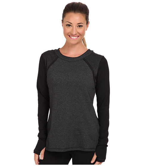 MSP by Miraclesuit - L/S Crew Neck Top (Charcoal Heather) Women