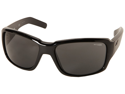 Arnette - Racketeer (Gloss Black/Grey) Fashion Sunglasses