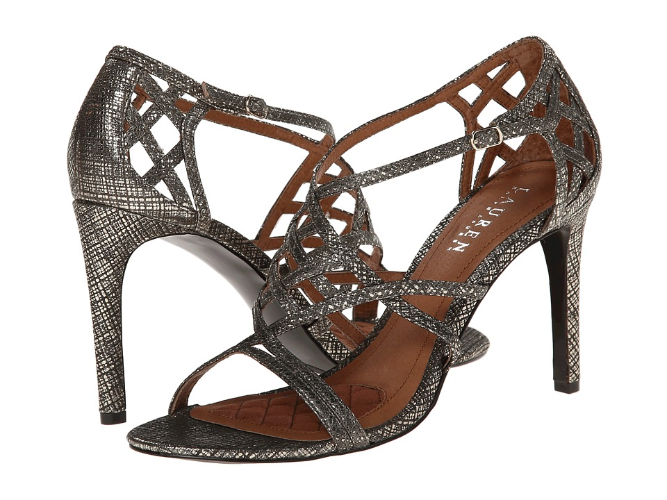 LAUREN by Ralph Lauren - Sydney (Pewter Linear Metallic) High Heels