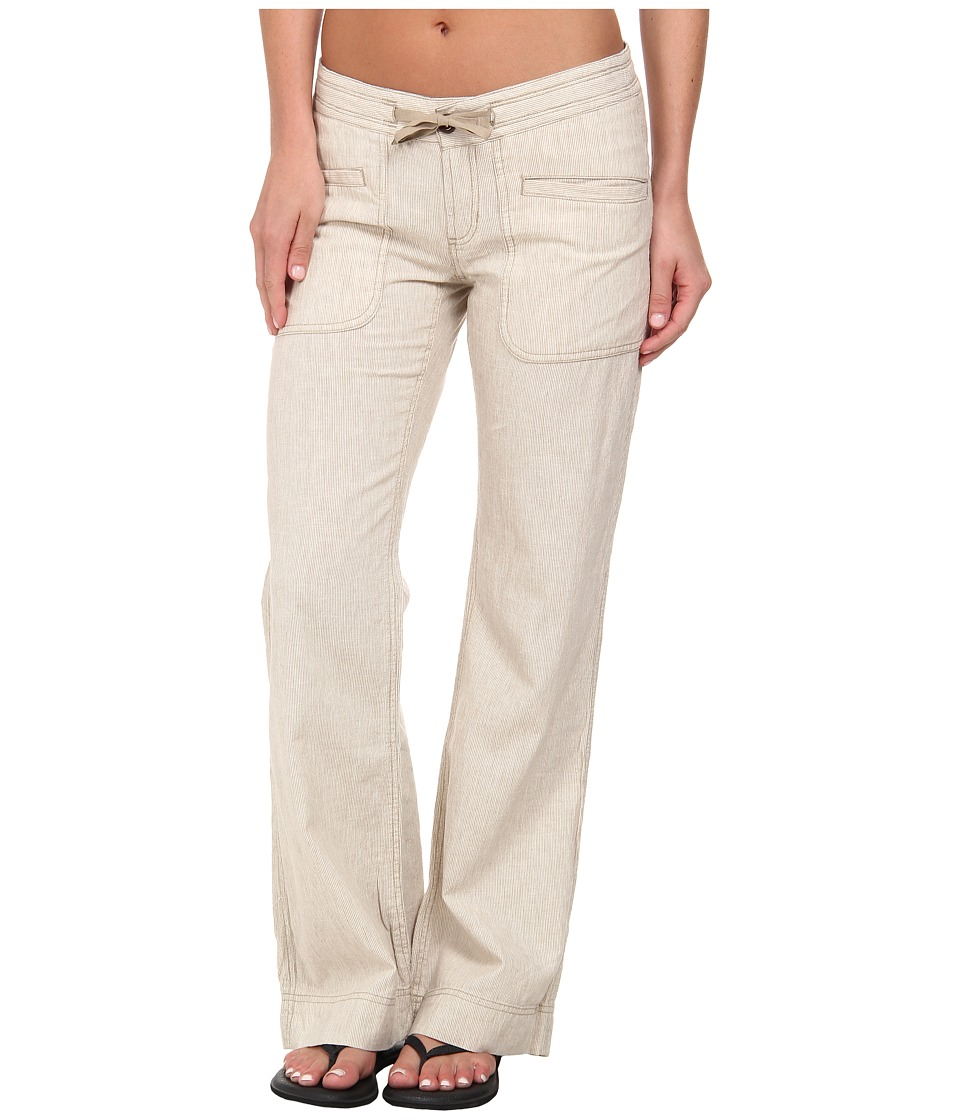 The North Face - Larison Linen Pant (Dune Beige/Vintage White Stripe) Women's Casual Pants plus size,  plus size fashion plus size appare