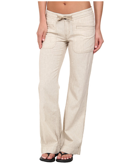 The North Face - Larison Linen Pant (Dune Beige/Vintage White Stripe) Women's Casual Pants