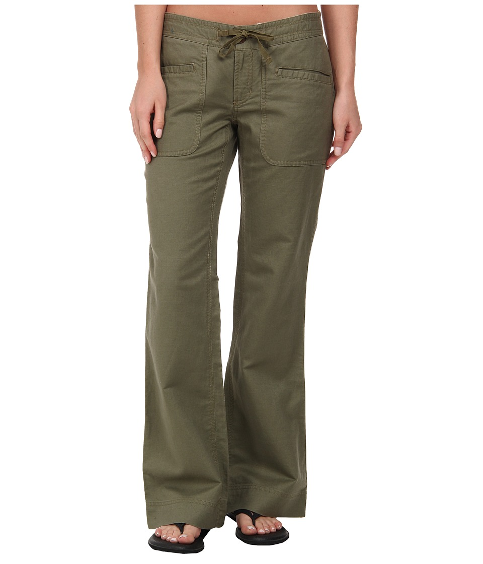 The North Face - Larison Linen Pant (Burnt Olive Green) Women's Casual Pants
