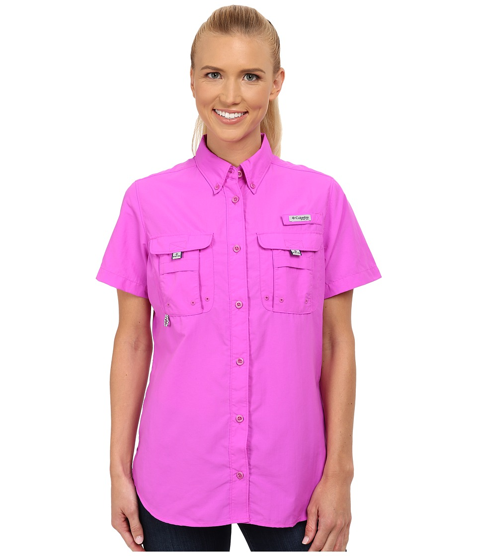 Columbia - Bahama S/S Shirt (Foxglove) Women's Short Sleeve Button Up