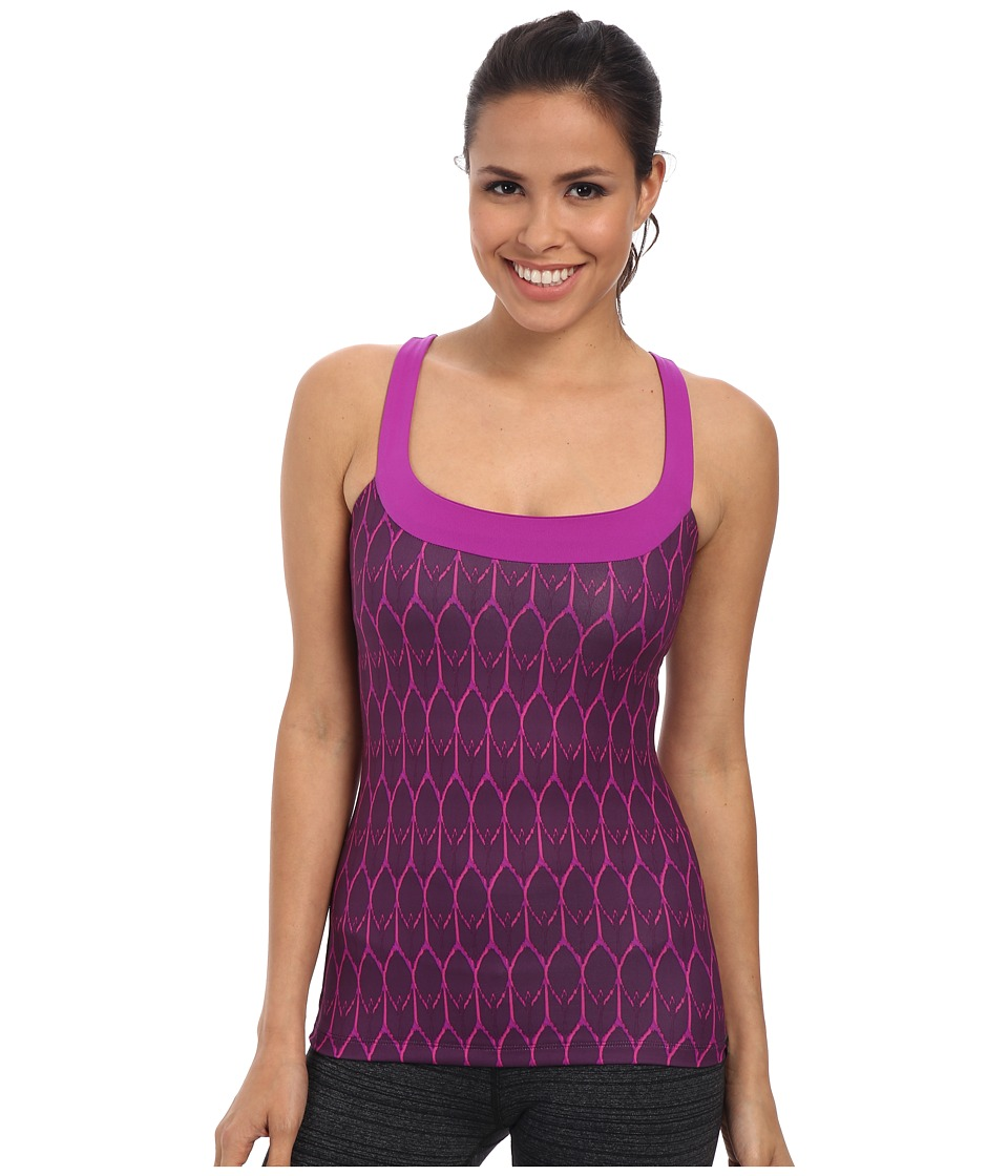 The North Face - Cypress Knit Tank (Black Currant Purple Print) Women's Sleeveless