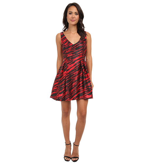 French Connection - Siberia Satin 71CIQ (Red/Black) Women's Dress