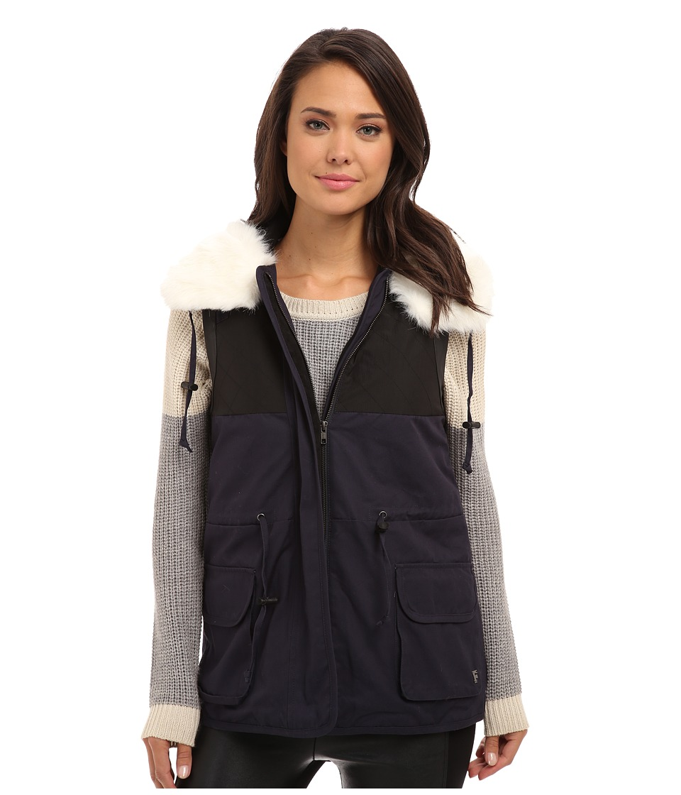 French Connection - Rhumba Nylon 7GCAF (Utility Blue/Black) Women's Vest