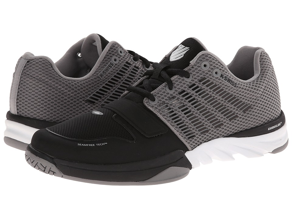 K-Swiss - X Court (Black/Stingray) Men's Tennis Shoes
