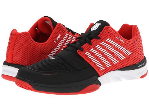 K-Swiss - X Court (Black/Fiery Red/White) Men's Tennis Shoes