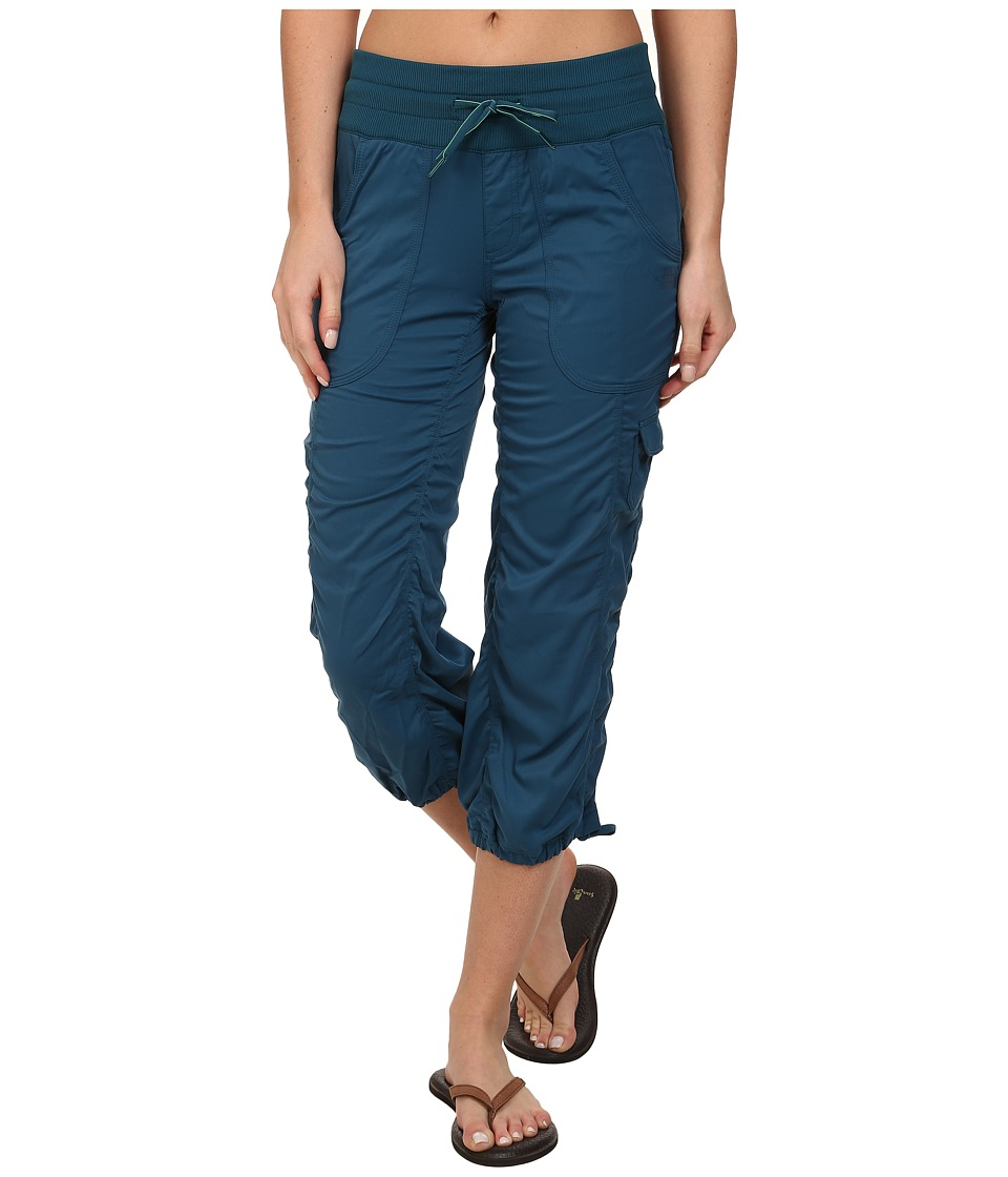 The North Face - Aphrodite Woven Pull-On Capri (Prussian Blue) Women