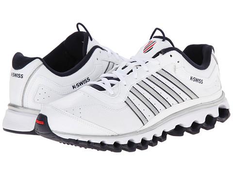K-Swiss - Tubes 151 L (White/Navy/Red) Men's Cross Training Shoes