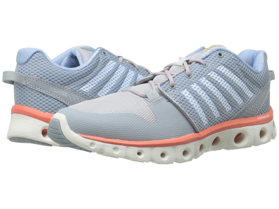 K-Swiss - X Lite (Quarry/Bright White/Living Coral) Women's Cross Training Shoes