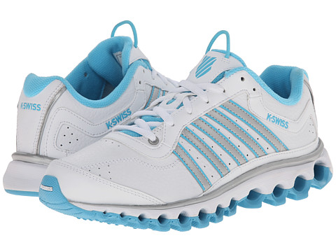 K-Swiss - Tubes 151 L (White/Bachelor Button/Silver) Women's Cross Training Shoes