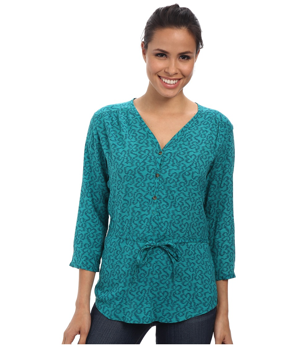 The North Face - 3/4 Sleeve Grace Bay Shirt (Teal Blue) Women's Blouse