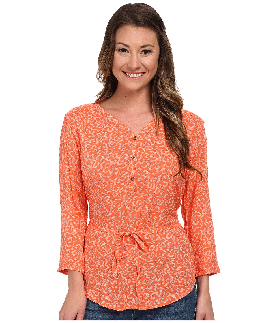 The North Face - 3/4 Sleeve Grace Bay Shirt (Emberglow Orange) Women's Blouse