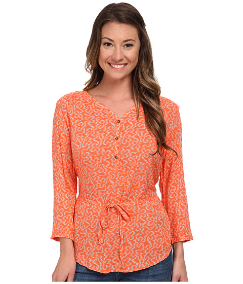 The North Face - 3/4 Sleeve Grace Bay Shirt (Emberglow Orange) Women