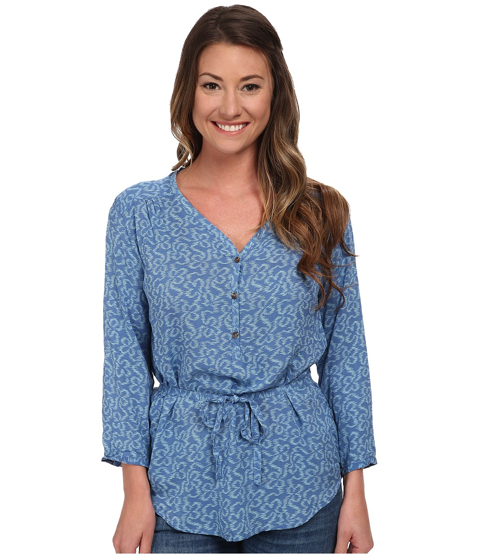 The North Face - 3/4 Sleeve Grace Bay Shirt (Vintage Blue) Women's Blouse plus size,  plus size fashion plus size appare