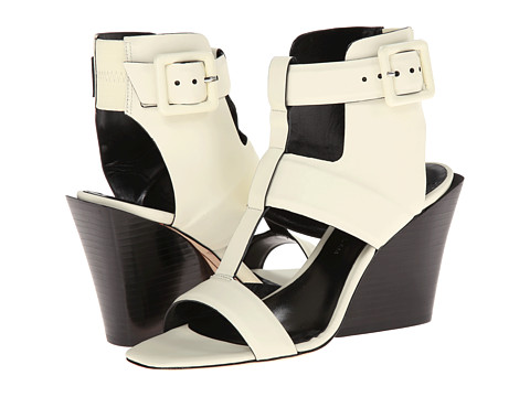 10 Crosby Derek Lam - Campbell (White/Black Rubber Leather) Women's Shoes