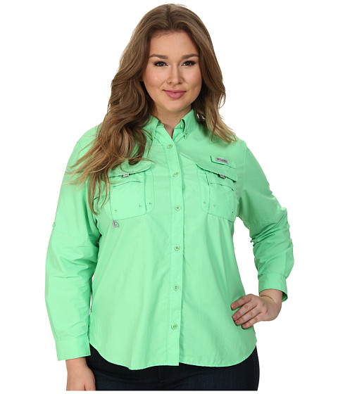 Columbia - Plus Size Bahama Long Sleeve (Chameleon Green) Women