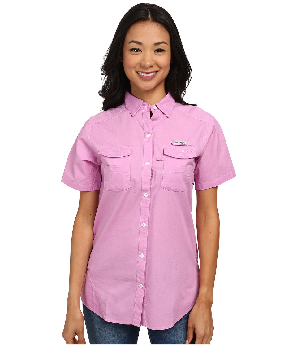 Columbia - Bonehead II S/S Shirt (Orchid) Women's Short Sleeve Button Up