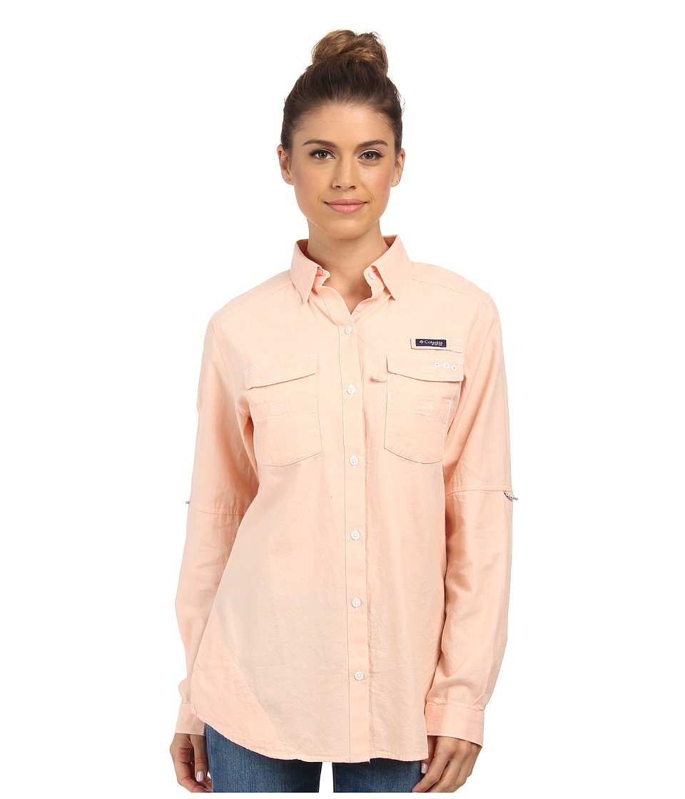 Columbia - Super Bonehead II L/S Shirt (Peach Oxford) Women's Long Sleeve Button Up
