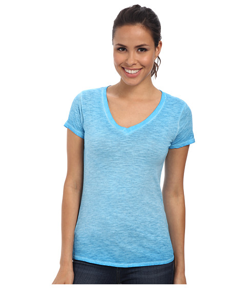 The North Face - Short Sleeve Remora Tee (Quill Blue) Women's T Shirt