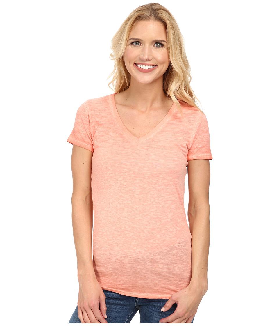 The North Face - Short Sleeve Remora Tee (Emberglow Orange) Women