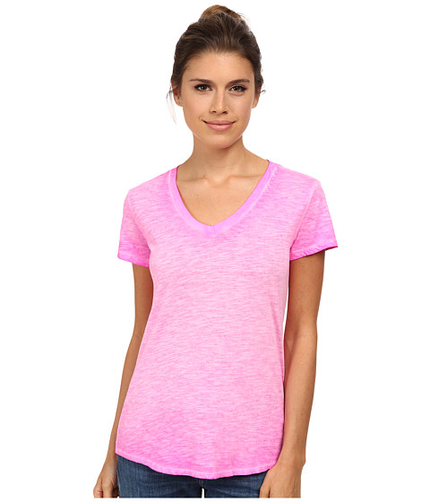 The North Face - Short Sleeve Remora Tee (Glo Pink) Women's T Shirt