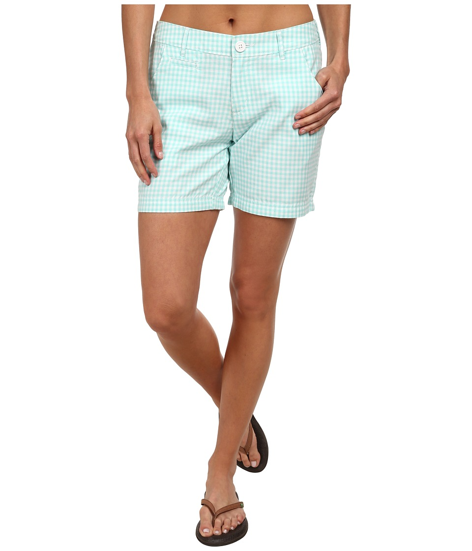 Columbia - Super Bonehead II Short (Candy Mint Gingham) Women's Shorts