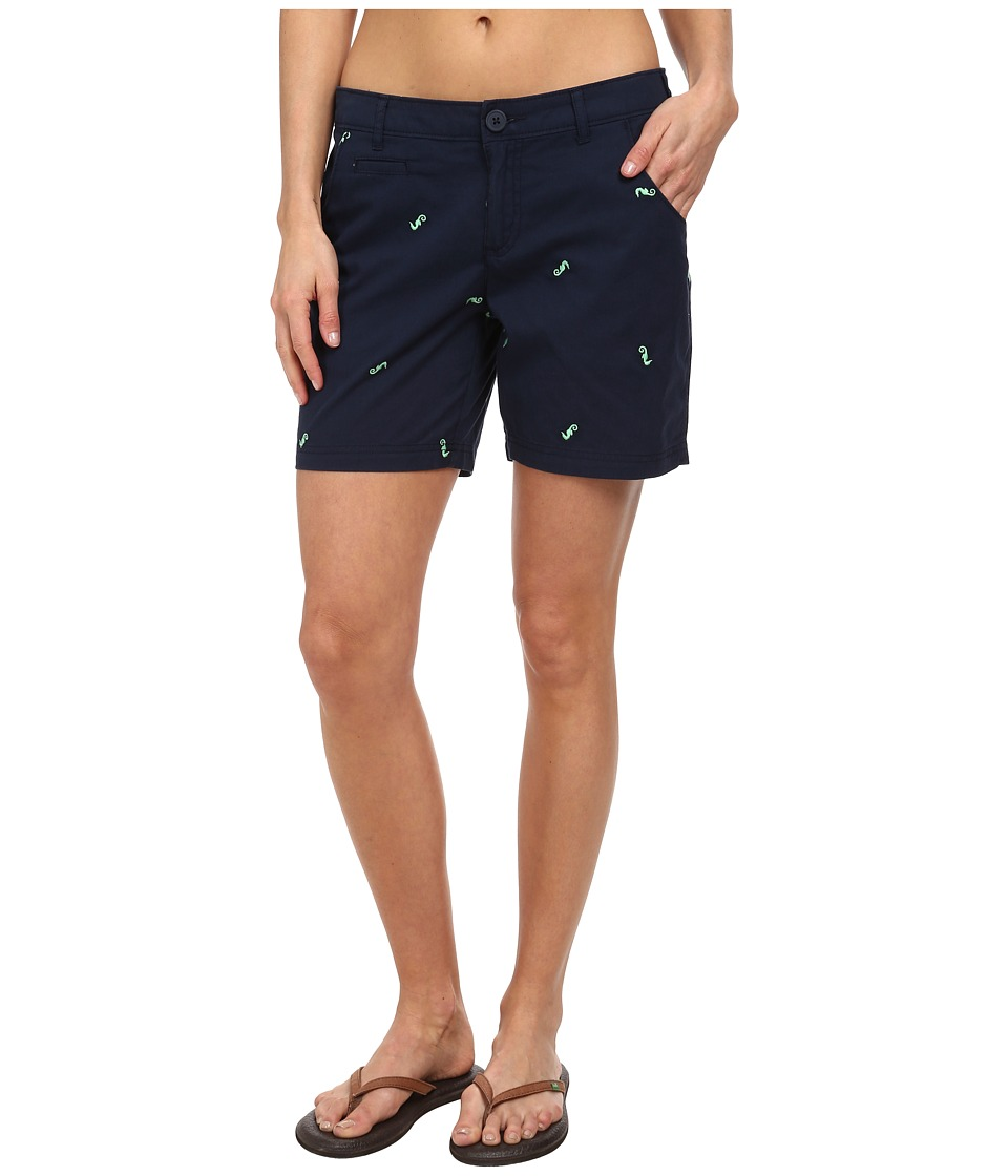 Columbia - Super Bonehead II Short (Collegiate Navy/Chameleon Green Sea Horse) Women's Shorts