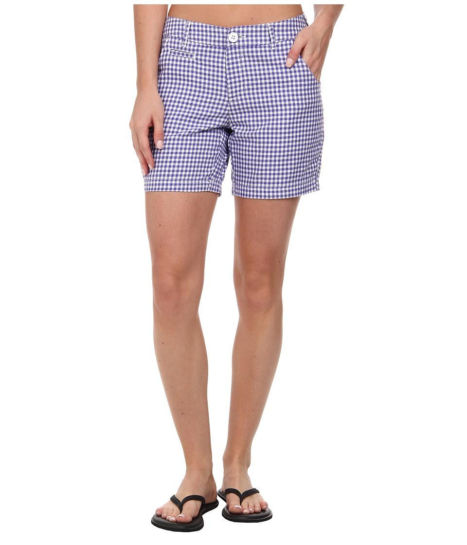 Columbia - Super Bonehead II Short (Purple Lotus Gingham) Women's Shorts