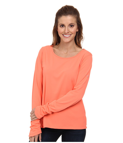 Columbia - Skiff Guide L/S Shirt (Coral Flame) Women's Long Sleeve Pullover