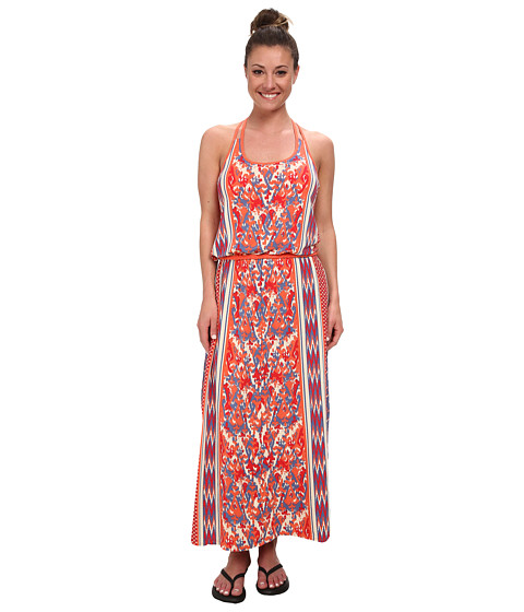 The North Face - Nicolette Maxi (Vintage Blue/Tomato Red) Women's Dress