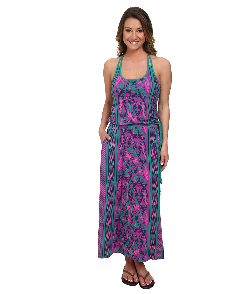 The North Face - Nicolette Maxi (Teal Blue/Glo Pink) Women's Dress