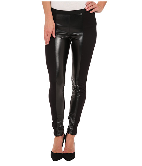 True Religion - Demi Super Skinny Paneled Legging (Black) Women's Casual Pants