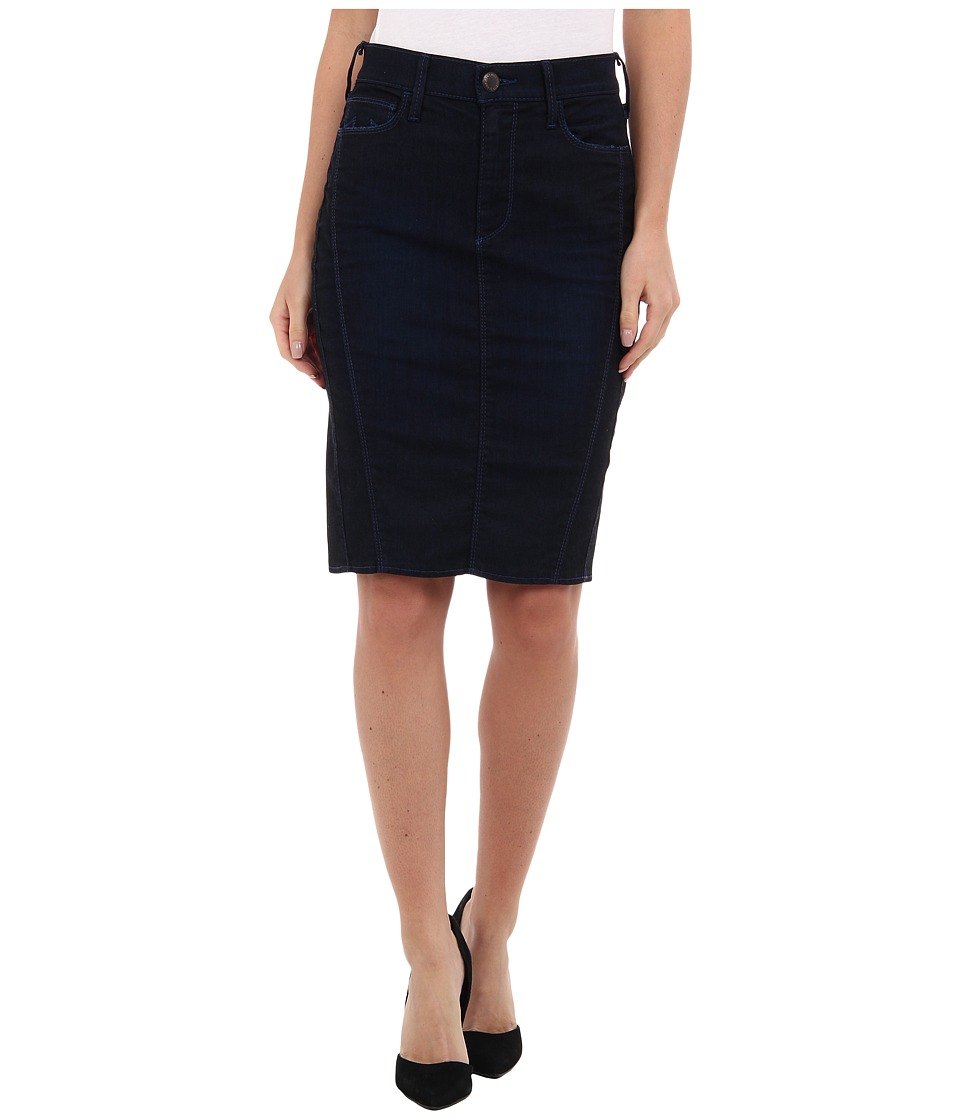 True Religion - Chloe Moto Pencil Skirt (Restless Night) Women